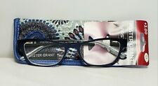 Foster Grant Women's Reading Glasses Sarah Navy Blue With Case +3.00
