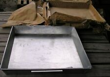 """Cement Mixing Pan Specifications: Dimensions, l x w x h, """" 24 x24 x 3 tem #8595"""