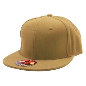 Plain Solid Flat Bill Visor Fitted Baseball Caps Snapback Size Colors Basic Hats