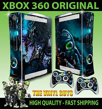 XBOX 360 CYBER PUNK GAS MASK DARK DECAL STICKER SKIN & 2 CONTROLLER PAD SKINS