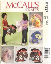 McCalls Craft Unicorn Horse Playtime Pony Toy Sew Pattern M7337 Size OSZ