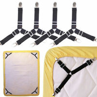 Practical Triangle Bed Mattress Holder Fastener Grippers Clips Suspender Straps