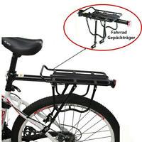 Cycling Bike Bicycle Rear Rack Carrier MTB Pannier Luggage Carrier Racks Black.