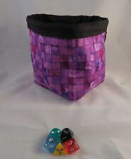 Púrpura Ladrillos-cuadrado dado Bolsa-Reversible-Algodón-Azulejo - bolsa del lazo