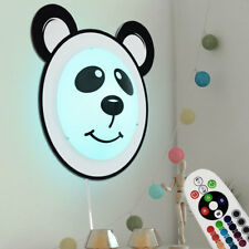 RGB LED Wand Lampe Glas Kinder Zimmer Fernbedienung Panda Design Dimmer Leuchte