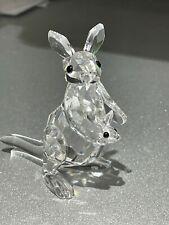 Swarovski Crystal Kangaroo With Joey 181756 Mint Retired