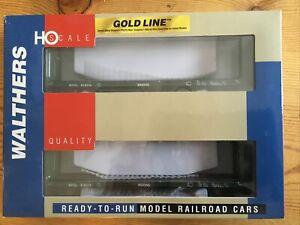 Two / 2 Wathers Bulkhead Flatcars BCRail 932-240055