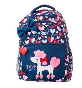 NEW SMIGGLE kids Backpack girls School Bag Cute puppy blue