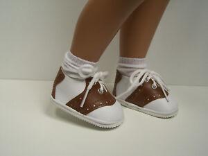 "BROWN Saddle Oxfords Doll Shoes FOR 16""- 17"" Sasha (Debs)"