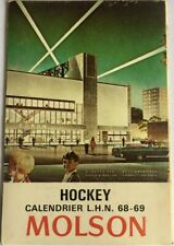 1968-69 MOLSON MONTREAL CANADIENS  HOCKEY SCHEDULE FRENCH-MINT