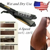 Hair Straightener Flat Iron Hot 4 Gear Tourmaline Ionic Glider Exhaust Ceramic