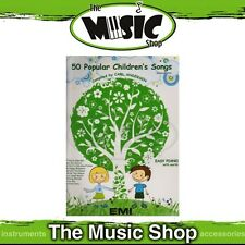New 50 Popular Children's Songs Music Book for Easy Piano w Lyrics - Revised Ed.