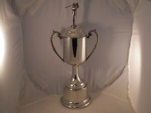 """13"""" tall golf trophy with golf figure on lid"""
