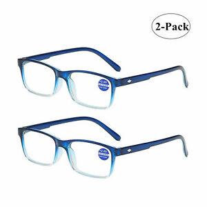 2Pairs Men And Women Neutral Anti-Blue Light Reading Glasses HD Reading Glasses