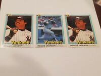 1981 Donruss #348  and #228 Reggie Jackson YANKEES NMMT 3 card lot HOF