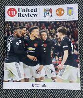 Manchester United v Aston Villa Programme 1/12/2019! FREE UK DELIVERY! LAST ONE!