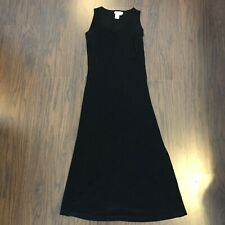 Coldwater Creek Black Midi Dress Size PS SP Sleeveless Stretch