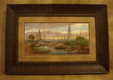 "ANDY THOMAS FRAMED ""OIL PATCH"" OPEN EDITION PRINT **OIL DERRICK**"
