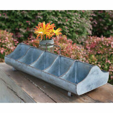 Farmhouse new Decorative Feed Trough in Distressed Tin