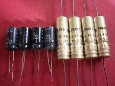 KONDENSATOR MIX 47µF 100V= 4 + 4 STÜCK axial + radial  ITT + FRAKO        24698