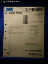 Sony Service Manual DP IF5100 Digital Surround Processor (#6480)