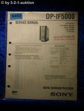 Sony Service Manual DP IF5100 Digital Surround Processor (#6480)