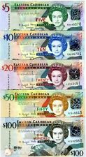 EAST CARIBBEAN  STATES  SET 6  NOTES      UNC