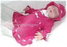 * tamara * papier * motif tricot reborn 20 pouces / nouveau-né robe collants / / Hausser