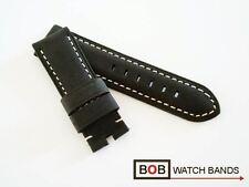 BOB BÜFFELLEDERUHRBAND 24mm OEM MOUNTAIN BAER SCHWARZ Für PAN Breitdornschließe