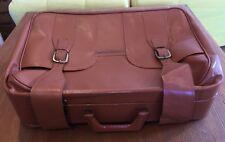 Leder Koffer braun Vintage Antiklook 70er Jahre Oldtimer Cabrio ca. 56x39x18 cm.