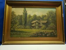 Art Rare Antique Oil Canvas Painting Signed By J. Lewis