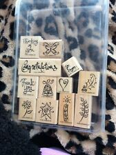 Stampin Up A Greeting For All Reasons 2001 ~ 12 Pc Set Rubber Stamps EUC RETIRED