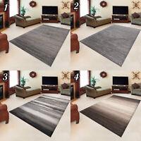 Teppich Kurzflor Grau Beige Meliert Rechteckig Designer Wohnzimmer Neu