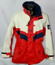 HELLY HANSEN TWIN SAILS Hooded Waterproof Jacket Men's Size XL Red White Blue