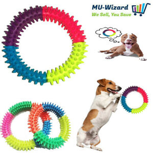 Puppy Pet Toys for Small Dogs Resistant To Bite Rubber Circle Dog Teething Toy