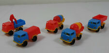 Vtg 80's Lot Of 5 x 2' Trucks Plastic Toy Cars Penny Toys Karampola Lucky Cup