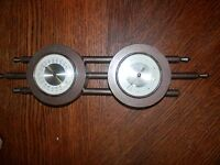Vintage Wall Mounted Barometer Thermometer Measures 4 x 16 in.