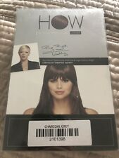 HOW Luxhair BANGS Clip On CHARCOAL GREY GRAY Bang Extension TABATHA COFFEY