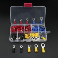 102 x Assorted Insulated Copper Ring Crimp Wire Cord Terminal Connector Tool