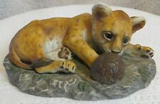 Vintage New Cougar Masterpiece Porcelain Figurine By Homco 1985
