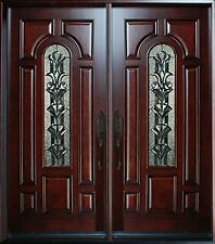 """Exterior Front Entry Double House Wood Door M280A 30""""x 80""""X2 Right Hand Swing In"""