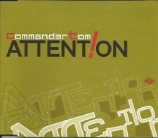 COMMANDER TOM : ATTENTION / ARE AM EYE – 10 TRACK CD SINGLE, STEVE MURANO
