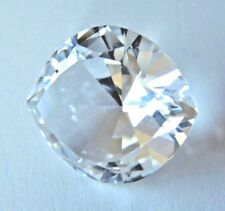 Marquise Wide Eye Cut 16x18 mm Rare Real 16.8 ct VVS White Sapphire Solitaire