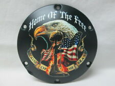 Harley Davidson Custom 6 Hole Derby Cover - Home Of The Free
