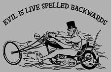 VINTAGE Ed Roth 'EVIL' MOTORCYCLE SHIRT!  L  -  Devil Delivers  -  Rat Fink