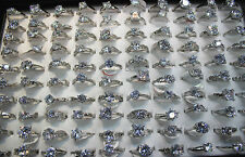 45pcs Fashion Clear Dazzling CZ Ring Wholesale Lots Wedding Lady's Rings EH317