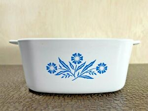 Vintage Rare* Corningware Blue Cornflower Casserole Dish  A-1 1/2 -b