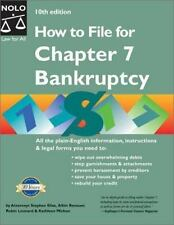 How to File for Chapter 7 Bankruptcy, 10th Edition