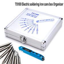 TS100 Electric Soldering Iron Dedicated Aluminum Care Box Organizer 14.8x15.5cm
