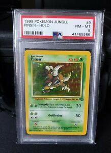 *** Pinsir - 9/64 - Vintage Pokemon Card- Jungle Set - PSA 8 - Free P&P ***